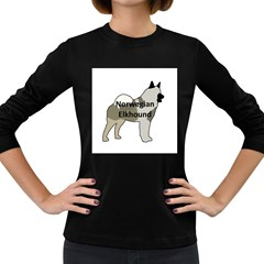 Norwegian Elkhound Name Silo Color Women s Long Sleeve Dark T Shirts