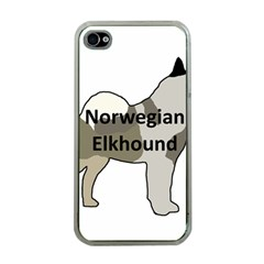Norwegian Elkhound Name Silo Color Apple Iphone 4 Case (clear)