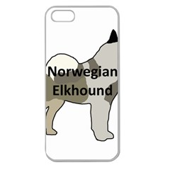 Norwegian Elkhound Name Silo Color Apple Seamless Iphone 5 Case (clear)