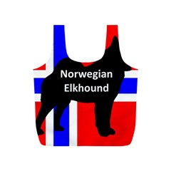 Norwegian Elkhound Name Silo On Norway Flag Full Print Recycle Bags (s)