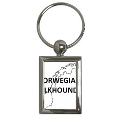 Norwegian Elkhound Norway Outline Key Chains (rectangle)