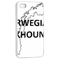 Norwegian Elkhound Norway Outline Apple Iphone 4/4s Seamless Case (white)