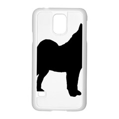 Norwegian Elkhound Silo Black Samsung Galaxy S5 Case (white)