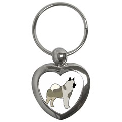 Norwegian Elkhound Silo Color Key Chains (heart)