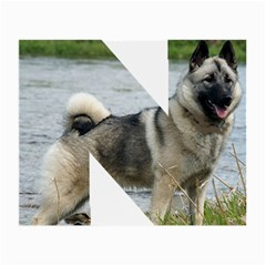 Norwegian Elkhound In Letter Small Glasses Cloth
