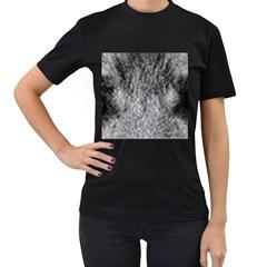 Norwegian Elkhound Eyes Women s T Shirt (black) (two Sided)
