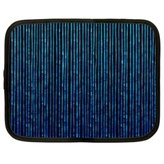 Stylish Abstract Blue Strips Netbook Case (xxl)