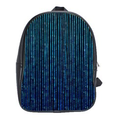 Stylish Abstract Blue Strips School Bag (large)