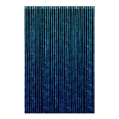 Stylish Abstract Blue Strips Shower Curtain 48  X 72  (small)