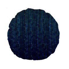 Stylish Abstract Blue Strips Standard 15  Premium Round Cushions