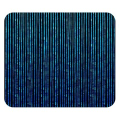 Stylish Abstract Blue Strips Double Sided Flano Blanket (small)
