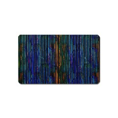 Stylish Colorful Strips Magnet (name Card)