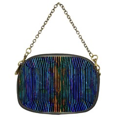Stylish Colorful Strips Chain Purses (two Sides)