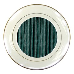 Stylish Frost Blue Strips Porcelain Plates