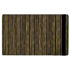 Stylish Golden Strips Apple Ipad 2 Flip Case