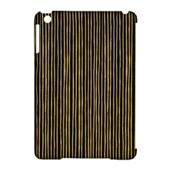 Stylish Golden Strips Apple Ipad Mini Hardshell Case (compatible With Smart Cover)
