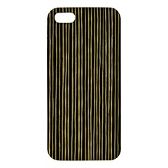 Stylish Golden Strips Apple Iphone 5 Premium Hardshell Case