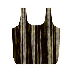 Stylish Golden Strips Full Print Recycle Bags (m)