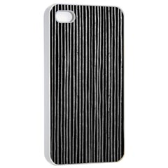 Stylish Silver Strips Apple Iphone 4/4s Seamless Case (white)