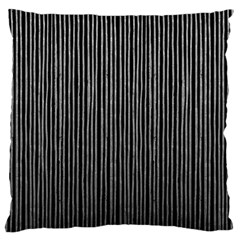 Stylish Silver Strips Large Cushion Case (one Side)