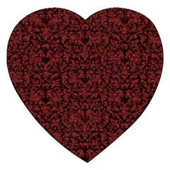 Red Glitter Look Floral Jigsaw Puzzle (heart)