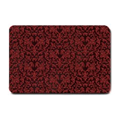 Red Glitter Look Floral Small Doormat