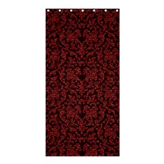 Red Glitter Look Floral Shower Curtain 36  X 72  (stall)