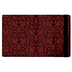 Red Glitter Look Floral Apple Ipad 3/4 Flip Case