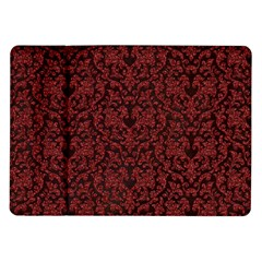 Red Glitter Look Floral Samsung Galaxy Tab 10 1  P7500 Flip Case