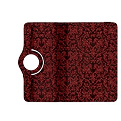 Red Glitter Look Floral Kindle Fire Hdx 8 9  Flip 360 Case