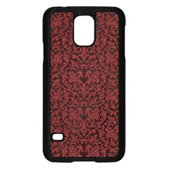 Red Glitter Look Floral Samsung Galaxy S5 Case (black)
