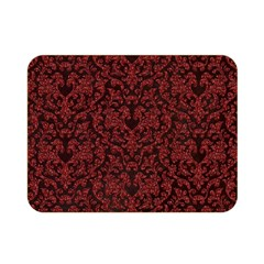 Red Glitter Look Floral Double Sided Flano Blanket (mini)