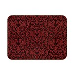 Red Glitter Look Floral Double Sided Flano Blanket (Mini)  35 x27 Blanket Back