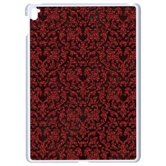 Red Glitter Look Floral Apple Ipad Pro 9 7   White Seamless Case