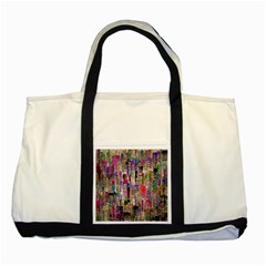 Colorful Shaky Paint Strokes                              Two Tone Tote Bag