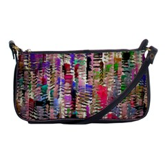 Colorful Shaky Paint Strokes                              Shoulder Clutch Bag