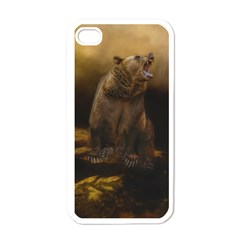 Roaring Grizzly Bear Apple Iphone 4 Case (white)