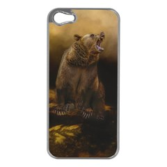 Roaring Grizzly Bear Apple Iphone 5 Case (silver)