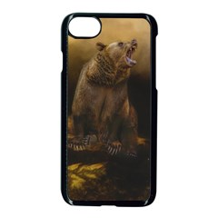 Roaring Grizzly Bear Apple Iphone 7 Seamless Case (black)