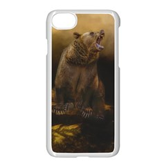 Roaring Grizzly Bear Apple Iphone 7 Seamless Case (white)