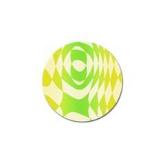 Green Shapes Canvas                              Golf Ball Marker (4 Pack)