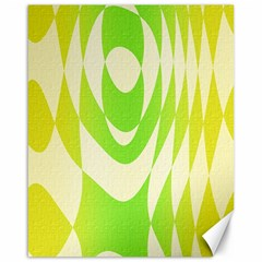 Green Shapes Canvas                              Canvas 16  X 20