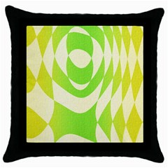 Green Shapes Canvas                              Throw Pillow Case (black)