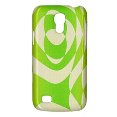 Green Shapes Canvas                        Samsung Galaxy S4 I9500/i9505 Woven Pattern Leather Folio Case