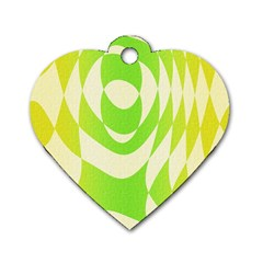 Green Shapes Canvas                              Dog Tag Heart (one Side)