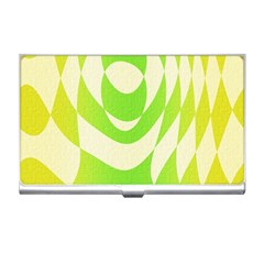 Green Shapes Canvas                              Business Card Holder