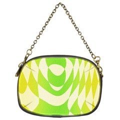 Green Shapes Canvas                         Chain Purse (two Sides)