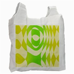 Green Shapes Canvas                              Recycle Bag