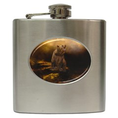 Roaring Grizzly Bear Hip Flask (6 Oz)