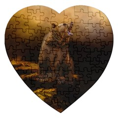 Roaring Grizzly Bear Jigsaw Puzzle (heart)